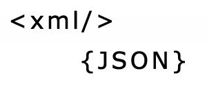 Schnittstellen Symbolfoto für XML und JSON